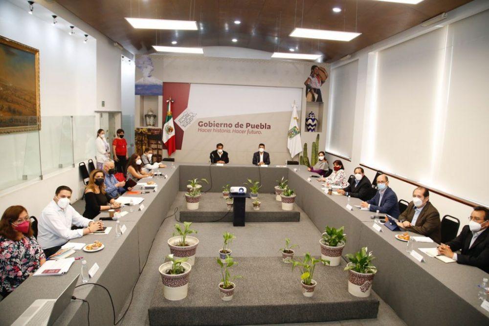 Gobierno Estatal y Eduardo Rivera instalan mesas de trabajo para impulsar a Puebla capital