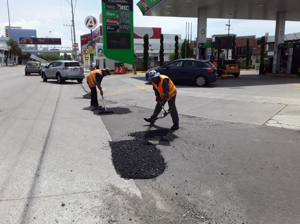 Ejecuta Secretaría de Infraestructura trabajos de bacheo en Cúmulo de Virgo