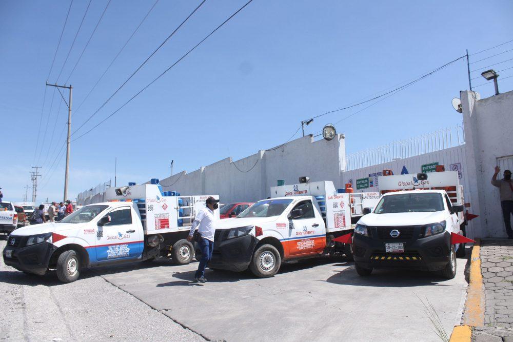 Repartidores de Gas Oriente se manifiestan ante descuentos en sus comisiones