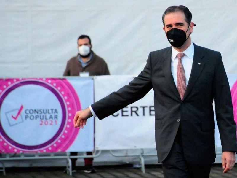 """La consulta ya es un éxito"", dice consejero presidente del INE"