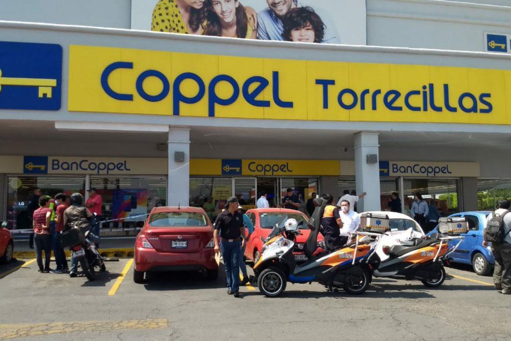 Roban Coppel Torrecillas, se llevan equipos de telefonía