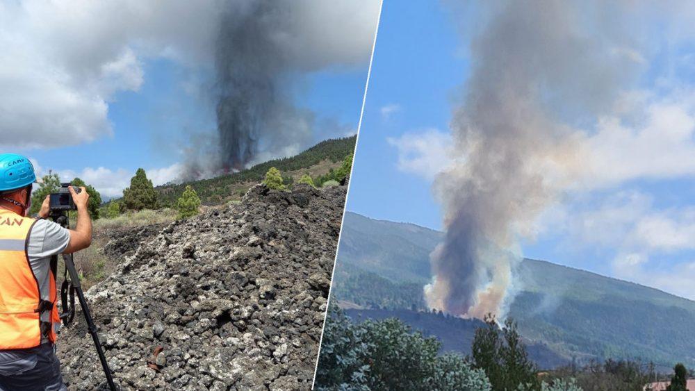 Entra en erupción volcán en isla española de La Palma