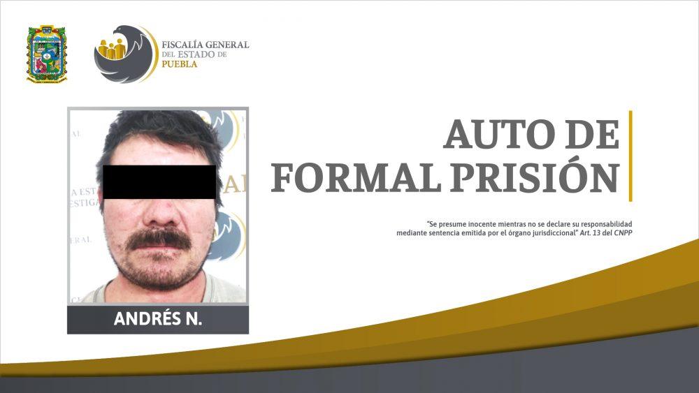 En prisión por homicidio calificado cometido en 2010 en Tehuacán