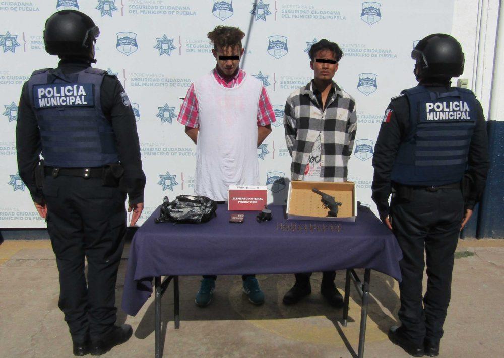 Policía municipal detuvo a dos probables asaltantes de transeúntes