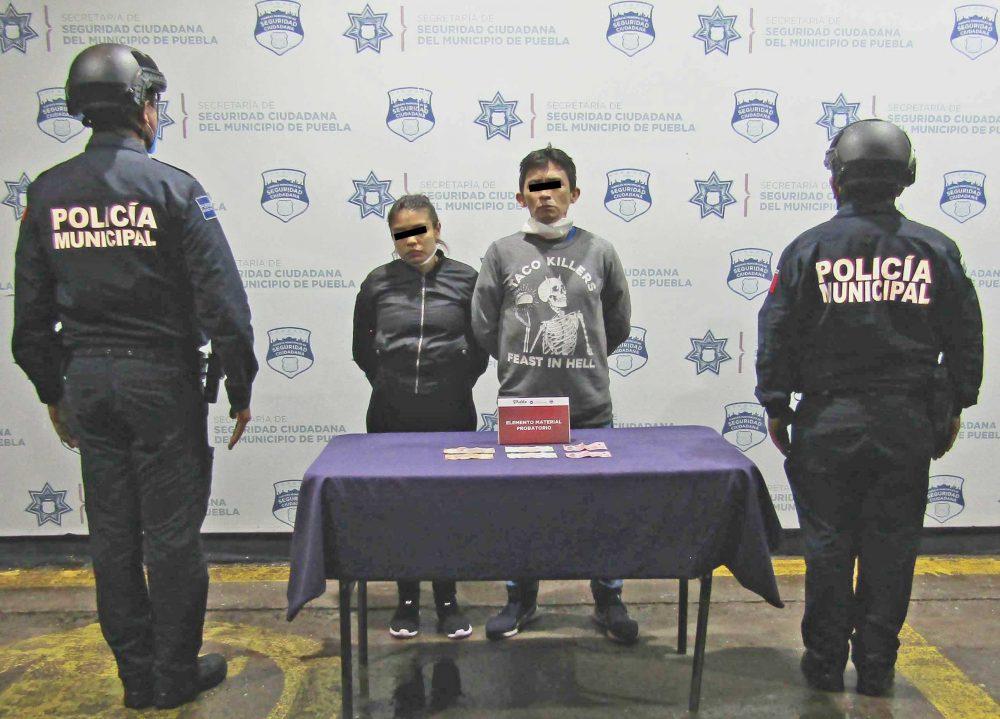 Detuvo SSC de Puebla a pareja por robo a usuarios de la ruta flecha azul