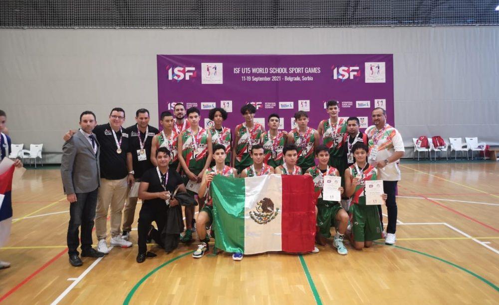 """México gana oro en básquetbol en  los """"Juegos Mundiales Escolares"""""""