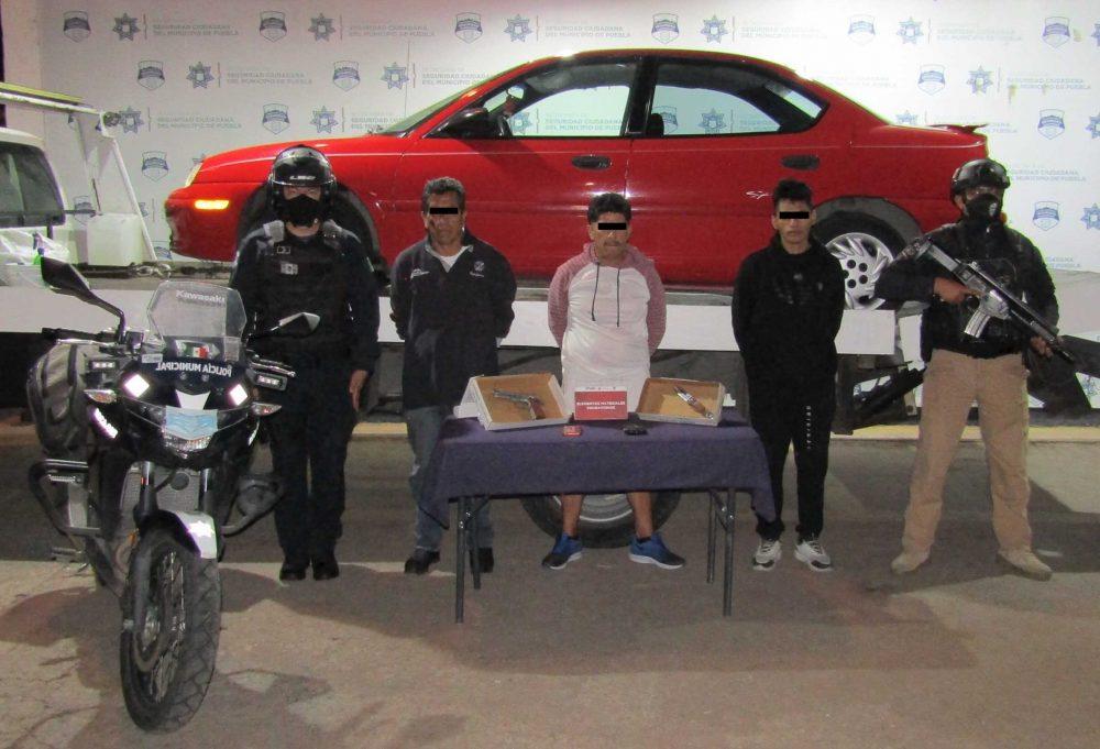 Detuvo SSC de Puebla a tres integrantes de una banda delictiva, dedicada al robo en transporte público