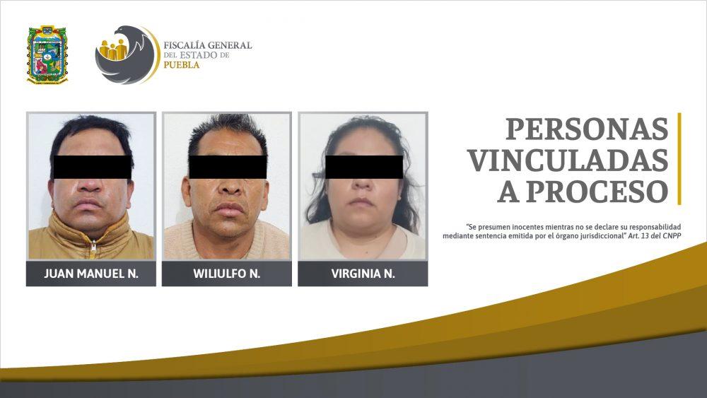 FGE obtuvo vinculación a proceso de tres personas por lenocinio