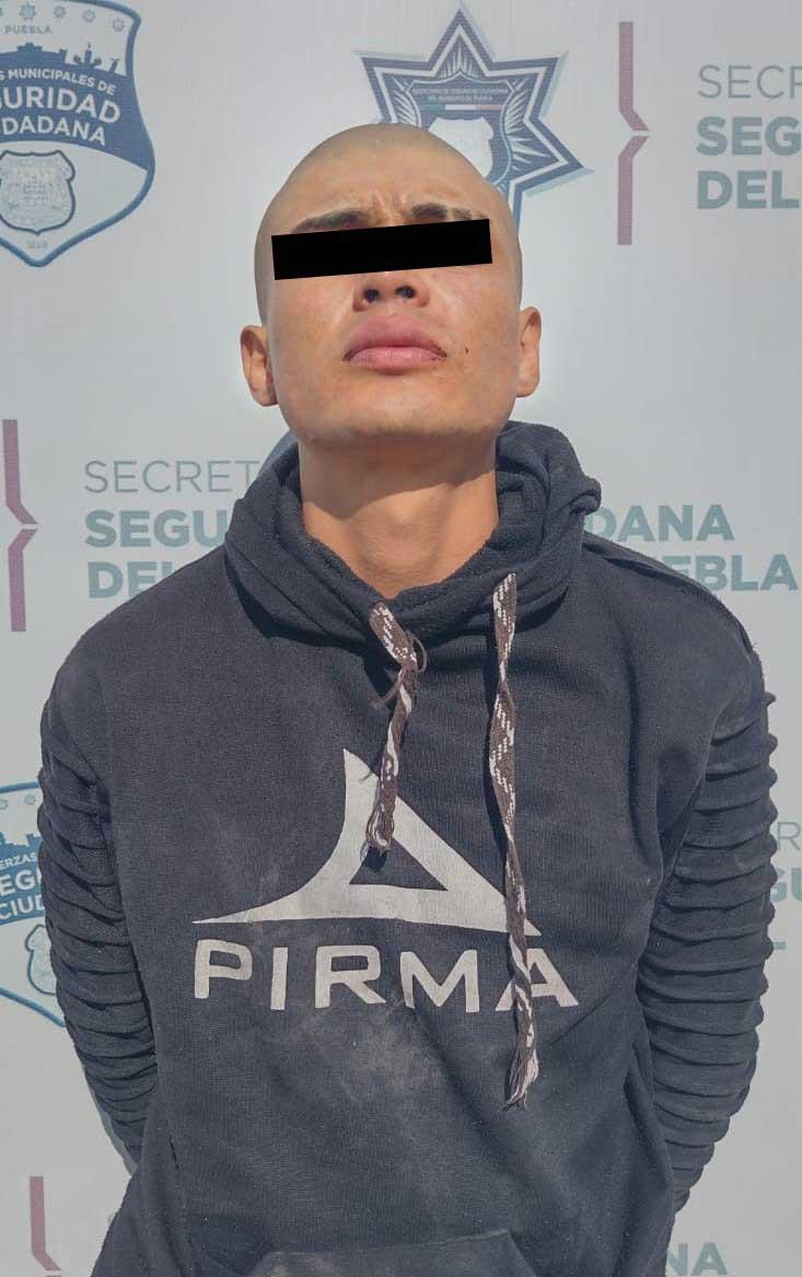 Detuvo SSC de Puebla a hombre por robo en agravio de un restaurante