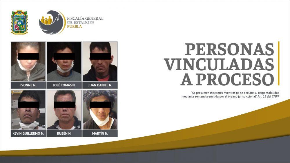Seis personas vinculadas a proceso por robo incluyendo hechos en transporte público