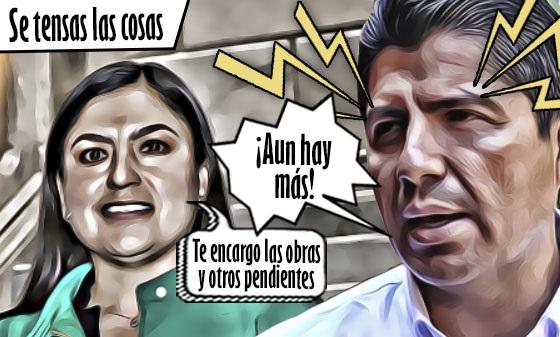 Se tensan las cosas entre Claudia Rivera y Eduardo Rivera, a un mes del cambio