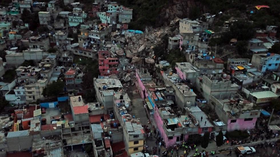 Tras el deslave en el Cerro del Chiquihuite, AMLO ofrece casas a habitantes