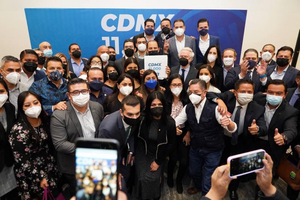 Los liderazgos del PAN en la Ciudad de México expresan su respaldo a Cortés Mendoza