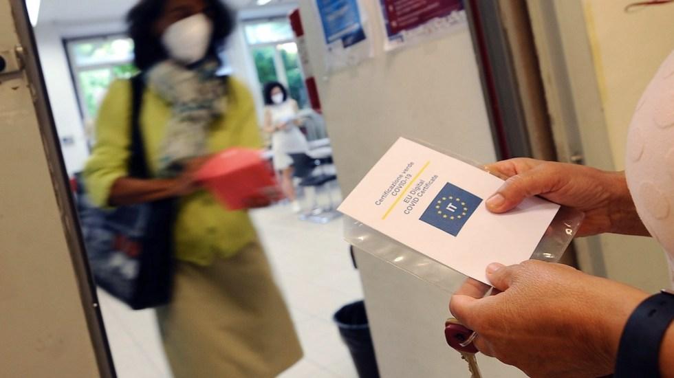Italia pedirá certificado de vacunación a sus empleados