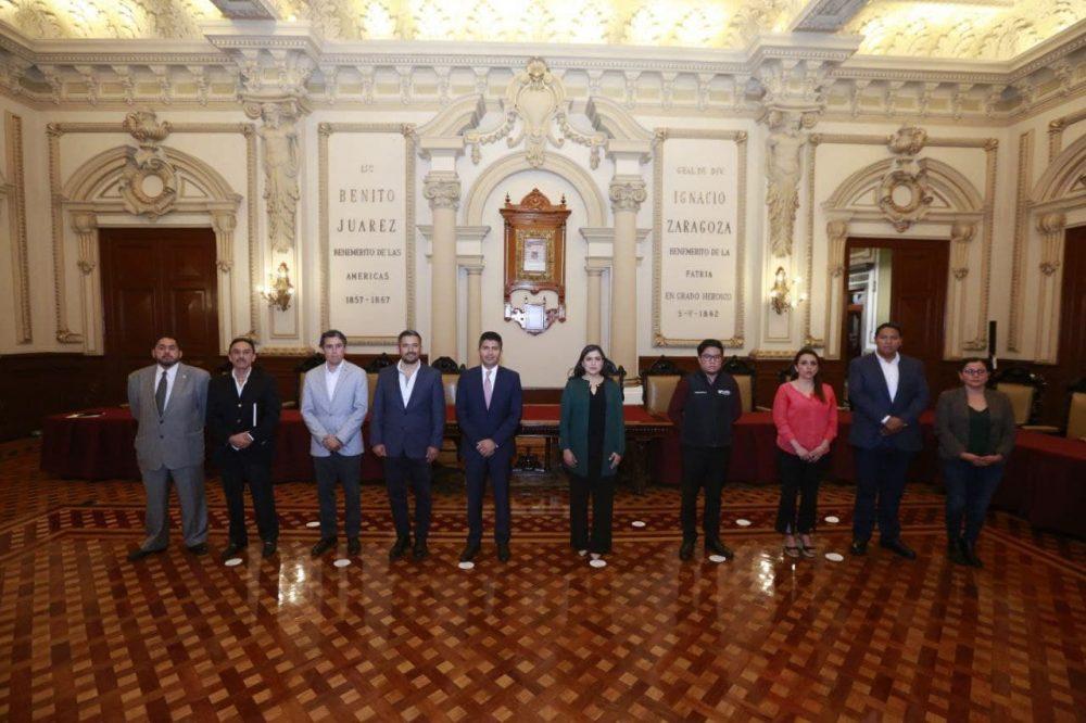 Continúa transición del Ayuntamiento de Puebla; presentan temas de gobernabilidad y protección civil