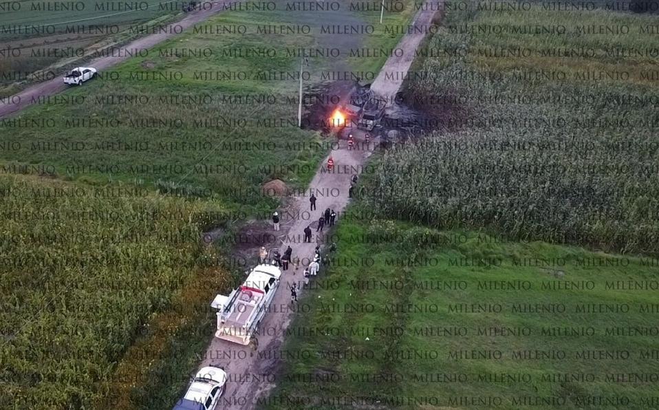 Reportan explosión de toma clandestina de Pemex en Acolman