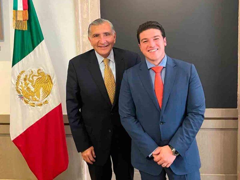Se reúne Samuel García con el titular de la Segob, Adán Augusto López