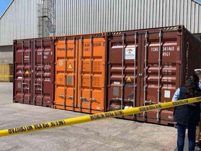 Semar asegura cocaína oculta en contenedor en Ensenada, Baja California