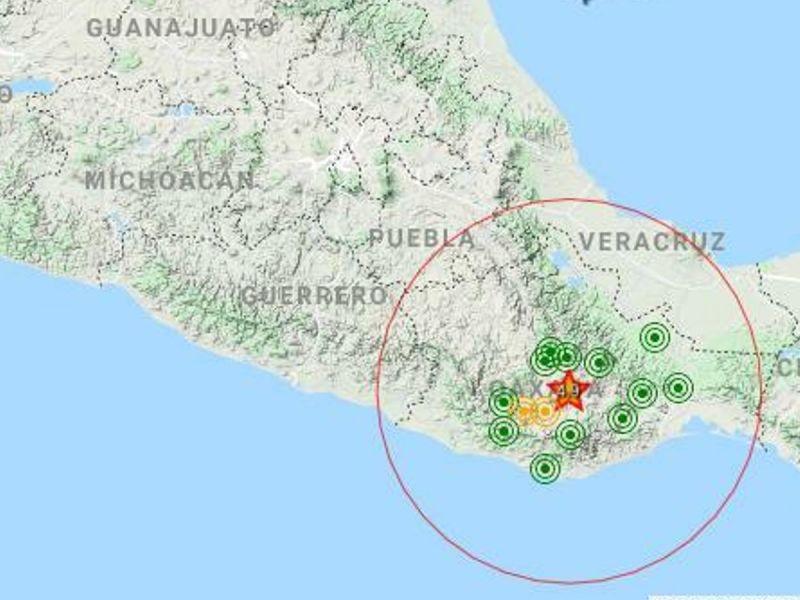 Se registra sismo en Oaxaca; fue de magnitud 4.8