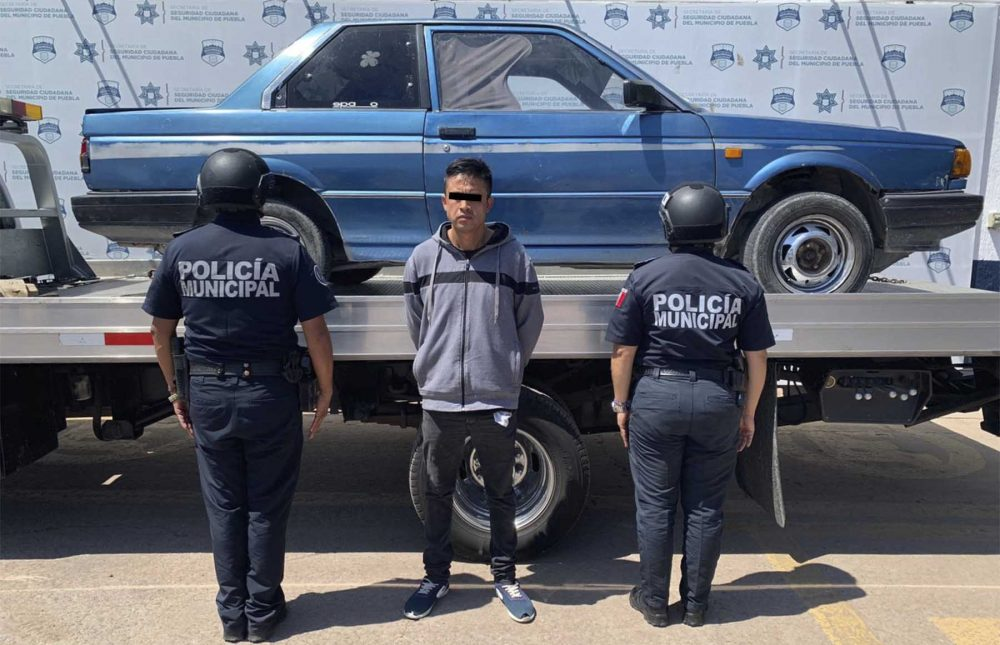 Policía Municipal detuvo a hombre por robo de vehículo