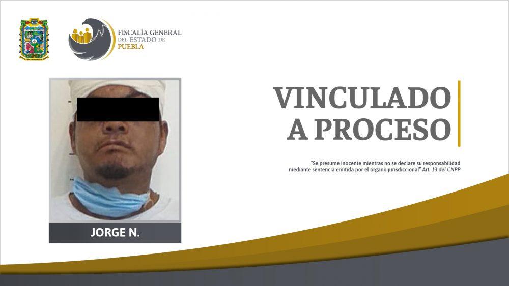 Presunto responsable de violación de una mujer en Atlixco, en prisión preventiva