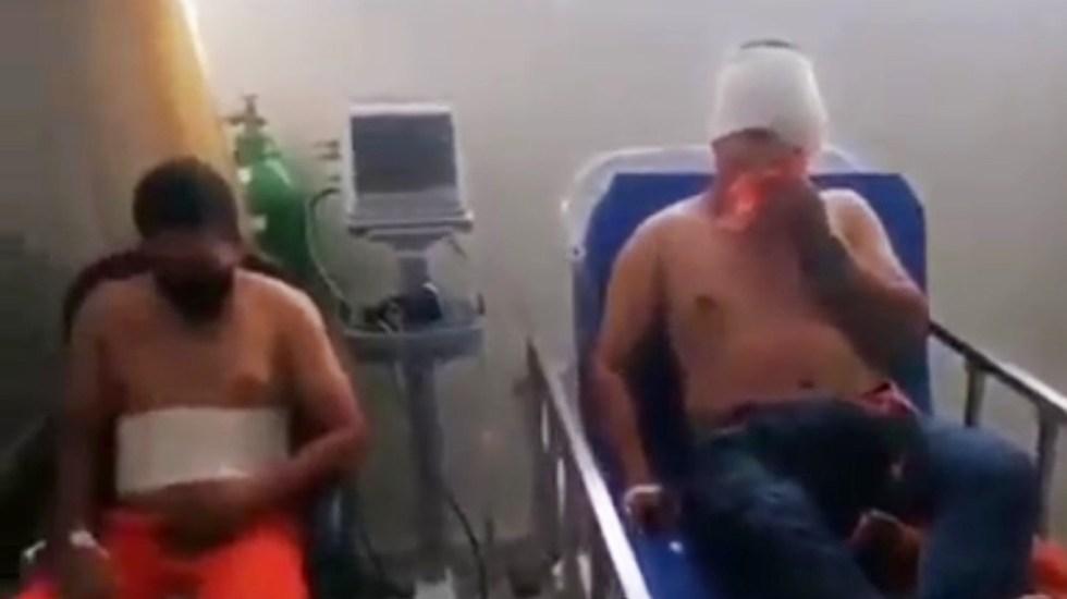 Trabajadores de Dos Bocas acusan de ser heridos con granadas